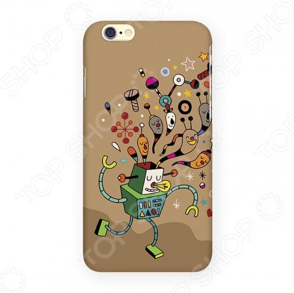 Чехол для iPhone 6 Mitya Veselkov «Мысли робота» mitya veselkov чехол для iphone 6 скандинавская лошадка