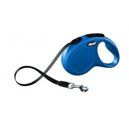 фото Поводок-рулетка Flexi New Classic XS. Цвет: синий. Тип поводка: лента. Вес собаки: до 12 кг