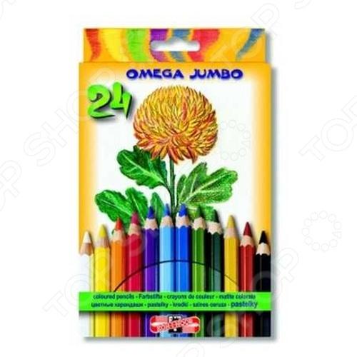 Набор карандашей цветных Koh-I-Noor Kin Omega Jumbo