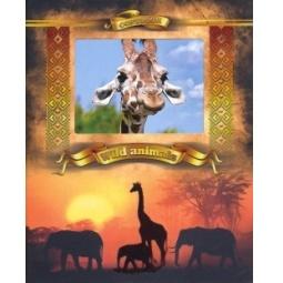 фото Тетрадь в клетку с вырубкой Ульяновский Дом печати «Дикие животные: Жирафы»