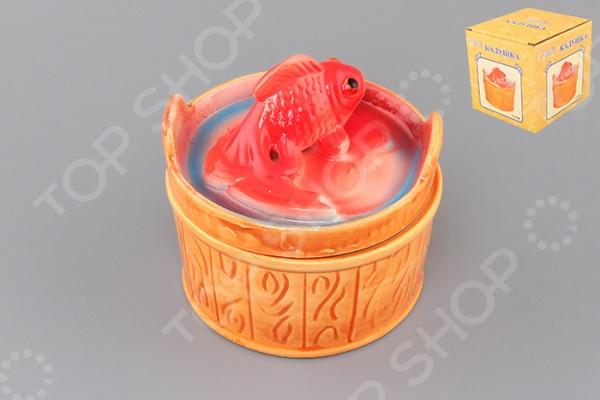 фото Кадушка Elan Gallery «Золотая рыбка», Соусницы. Креманки. Пиалы
