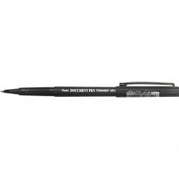 фото Ручка-роллер незаправляемая Pentel Document Pen. Цвет чернил: черный