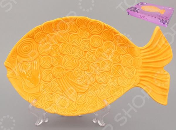 фото Блюдо Elan Gallery «Рыбка». Длина: 29,5 см, Сервировочные блюда