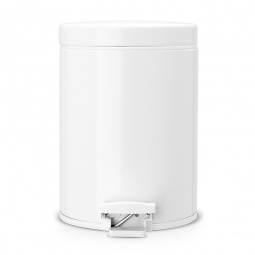 Купить Бак для мусора с педалью Brabantia. Объем: 5 литров. Цвет: белый. Уцененный товар
