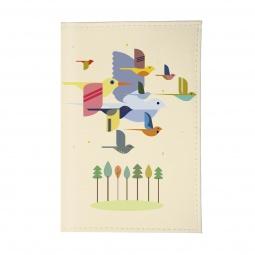 фото Обложка для паспорта Mitya Veselkov «Птицы». Цвет: светло-розовый