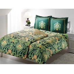 фото Комплект постельного белья TAC Torium. Семейный. Цвет: зеленый