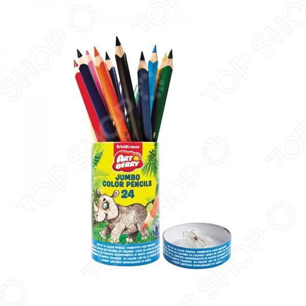 Набор карандашей цветных Erich Krause Jumbo Artberry: 24 цвета