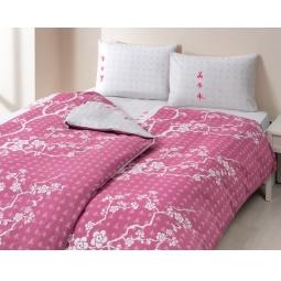 фото Комплект постельного белья TAC Сhina flower. Семейный. Цвет: розовый