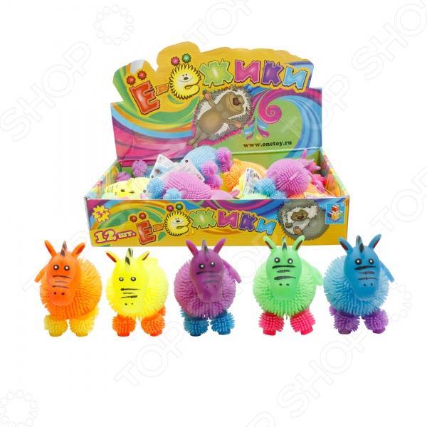 Игрушка-антистресс 1 Toy со светом и тянучкой «Цветная зебра». В ассортименте