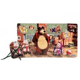 фото Игра развивающая для малыша Маша и Медведь «Шнуровка. У Мишки дома»
