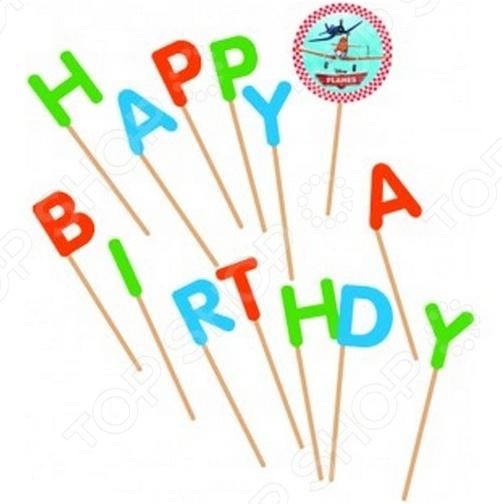 Свечи для торта Procos 82108 «Самолеты» procos свечи буквы принцессы disney сказочный мир happy birthday