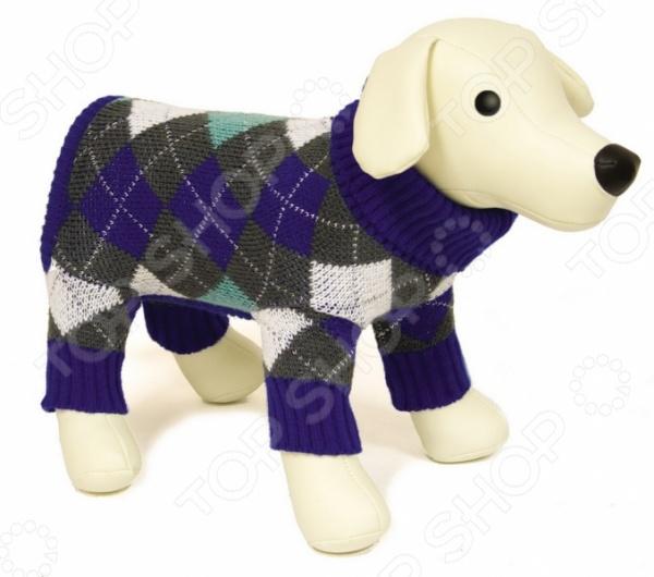 Свитер для собак DEZZIE «Ромб»Одежда для собак<br>Свитер для собак DEZZIE Ромб замечательная вещь для заботливых владельцев собак, которые хотят обеспечить комфорт и уют своему питомцу. Изделие разработано с учетом анатомических особенностей животных, поэтому вашей собачке будет удобно и тепло. Кроме того, свитер смотрится очень модно. Вязка ворота, рукавов и низа 2x2. Прекрасно сохраняет форму при носке.<br>