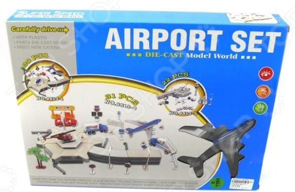 Набор игровой для мальчика Shantou Gepai «Аэропорт» 9513-1Игровые наборы для мальчиков<br>Набор игровой для мальчика Shantou Gepai Аэропорт увлекательный игровой комплект, в котором ребенок найдет много всего интересного. С помощью этого набора любимые игры ребенка станут еще разнообразнее и интереснее. Игровые наборы важны для детей, поскольку развивают фантазию и пространственное воображение, логическое мышление, помогают научить ребенка доброте и заботе. В комплекте самолет длина около 14 см , 3 машинки, вертолет и детали для сборки здания аэропорта.<br>