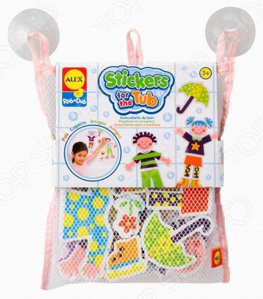 Набор стикеров для ванной Alex «Друзья» игрушки для ванной alex набор игровой для ванны вымой щенка