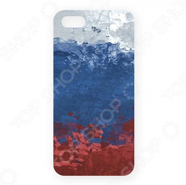 Чехол для iPhone 5 Mitya Veselkov «Флаг Российской Федерации» чехол для iphone 7 глянцевый printio русский флаг