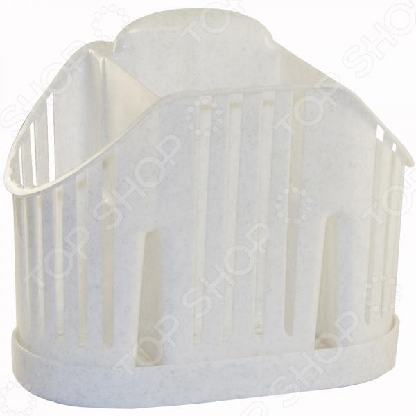 Сушилка для столовых приборов IDEA М 1160Сушилки для посуды<br>Сушилка для столовых приборов IDEA М 1160 - удобная и практичная модель предназначена для сушки столовых приборов. Сушилка имеет несколько отделений, поэтому все столовые приборы можно отсортировать и сушить отдельно, что очень удобно. Модель выполнена из высококачественного и безопасного пластика. Легко моется.<br>