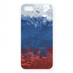 фото Чехол для iPhone 5 Mitya Veselkov «Флаг Российской Федерации»