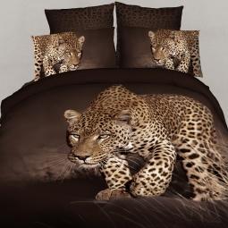 фото Комплект постельного белья с эффектом 3D Buenas Noches Safari. 2-спальный