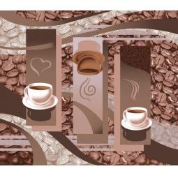 фото Комплект из 3-х кухонных полотенец подарочный ТексДизайн «Арабика, Чайная церемония, Пирожное»