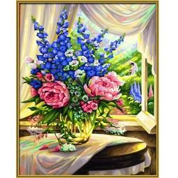 Купить Набор для рисования по номерам Schipper «Цветы на столе»