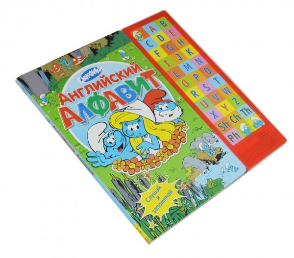 В этой красочной книге смурфики познакомят детей с английским алфавитом. А чтобы малышу было удобнее запоминать незнакомые звуки, он может нажимать на кнопочки с буквами и слушать их названия столько раз, сколько ему захочется.