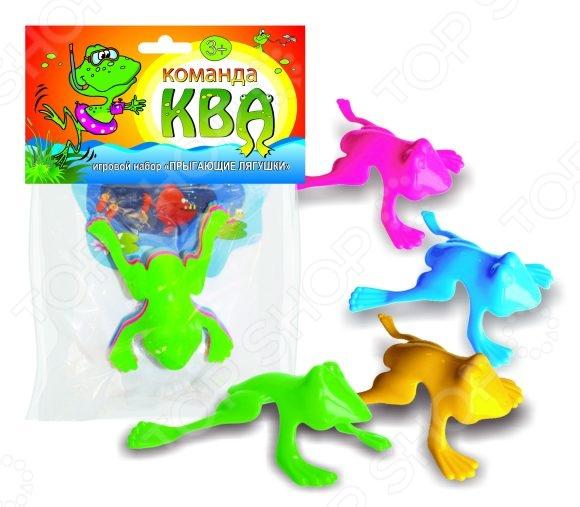 Набор игровой Биплант «Команда КВА № 2»Наборы для развития навыков<br>Набор игровой Биплант Команда КВА 2 станет чудесным подарком для вашего любимого чада. Забавные цветные квакушки очень любят скакать и резвиться. Идея игры состоит в том, чтобы своей лягушкой попасть в пруд, либо перепрыгнуть его. Для того, чтобы лягушка прыгнула необходимо нажать ей на спинку, а затем отпустить. Подобные игры очень увлекательны для малышей, способствуют развитию ловкости и меткости. В набор входят четыре лягушонка. Игрушки выполнены из высококачественного цветного пластика. Рекомендовано для детей в возрасте от 3-х лет.<br>