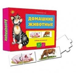 фото Игра настольная развивающая Рыжий кот «Ассоциации-половинки. Домашние животные»