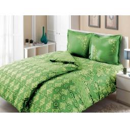 фото Комплект постельного белья TAC Catrin. Семейный. Цвет: зеленый