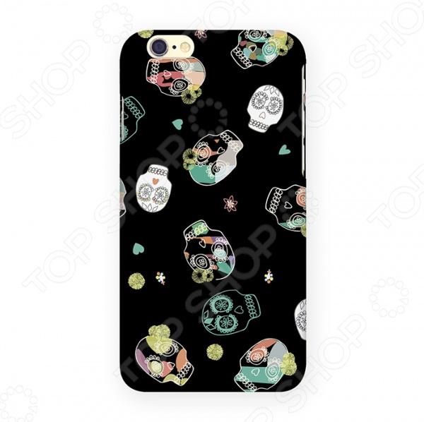 Чехол для iPhone 6 Mitya Veselkov «Цветные черепа»