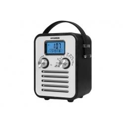фото Радиобудильник Hyundai H-1623. Вид: черная кожа