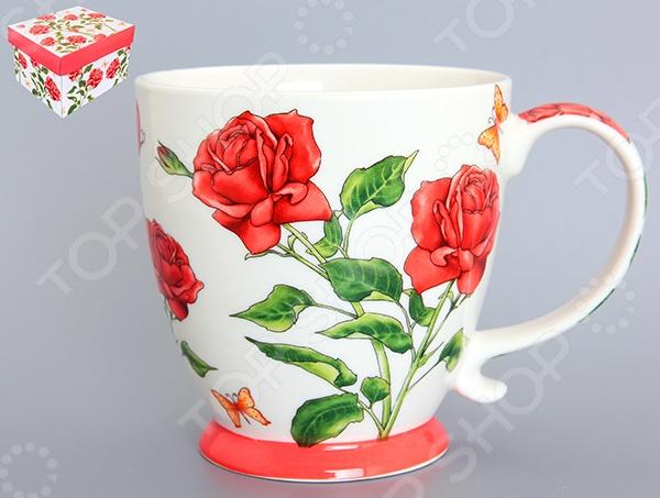 Кружка Elan Gallery «Розы» сорочка ночная мамин дом мамин дом ma168ewvgv34