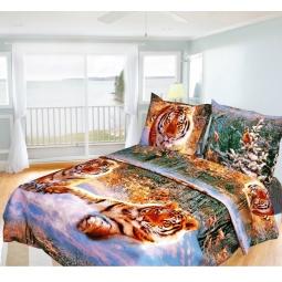 Купить Комплект постельного белья Олеся «Тигры». 1,5-спальный