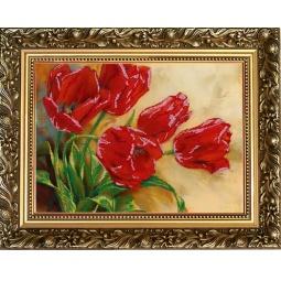 Купить Набор для вышивания бисером Светлица «Первые цветы»