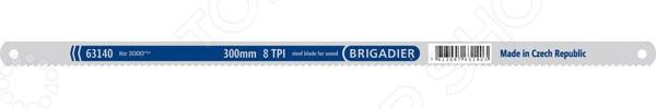 Полотно по дереву Brigadier 63140Ножовочные полотна<br>Полотно по дереву Brigadier 63140 используется со специализированными ножовками для распиловки деталей и заготовок из древесины. Плотно выполнено из прочной и гибкой стали. Данный материал отличается повышенной устойчивостью к износу, механическим повреждениям и изломам. Острые, частые зубцы обеспечивают максимально точный и ровный распил.<br>