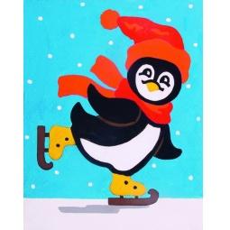 фото Канва с нанесенным рисунком Collection D'art «Пингвин»