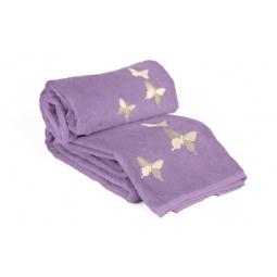 фото Комплект полотенец из махры Tete-a-Tete Т-МП-6200-04. Цвет: фиолетовый