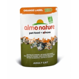 Купить Корм влажный для кошек Almo Nature Orange Label Bio Adult with Chicken and Vegetables