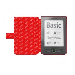 фото Чехол LaZarr Pocket Case для PocketBook Touch 613. Цвет: серый с красным