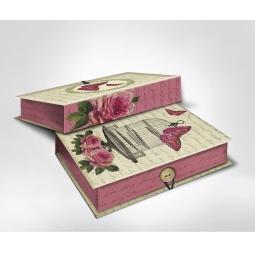фото Шкатулка-коробка подарочная Феникс-Презент «Клетка с бабочками». Размер: S (18х12 см). Высота: 5 см