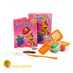 фото Набор пластилина Оранжевый Слон «Прикольные магнитики»