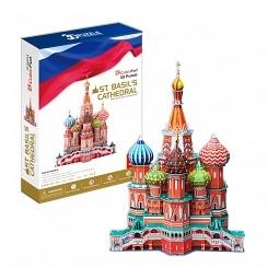 Купить Пазл 3D Cubic Fun «Собор Василия Блаженного»