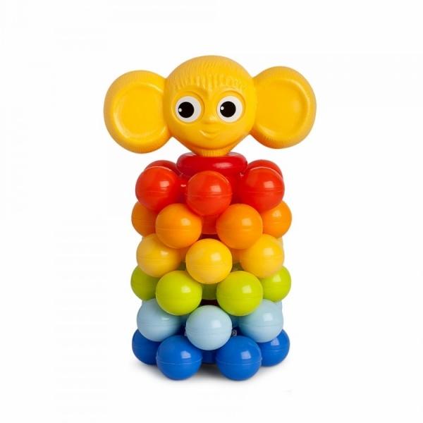 Игрушка-пирамидка Росигрушка «Ушастик с шариками»Пирамидки для малышей<br>Игрушка-пирамидка Росигрушка Ушастик с шариками замечательный подарок для малышей, играть с которым не только увлекательно, но и полезно. Это своеобразный тренажер, развивающий координацию движений обеих рук и мелкую моторику. Ребенок знакомится с разными цветами и размерами объектов, учится сравнивать и соотносить их. Кроме того, при помощи деталей пирамидки можно освоить устный счет. Пирамида состоит из необычных колец с шариками, такая конструкция безопасна для малыша и помогает развить тактильные ощущения.<br>