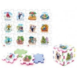 фото Пазл-кубик Нескучный кубик «12 месяцев»: 2 шт