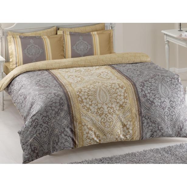 фото Комплект постельного белья Tac Damas. Семейный. Цвет: серый