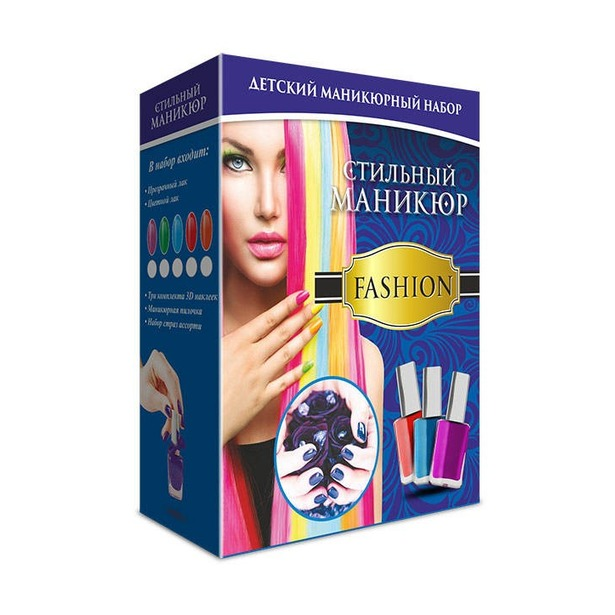 фото Набор для маникюра с наклейками Karras «Стильный маникюр» Fashion