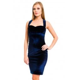фото Платье Mondigo 7024. Цвет: темно-синий. Размер одежды: 46