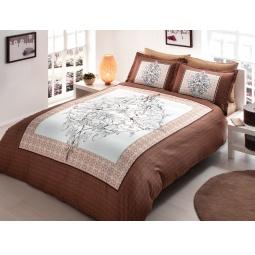 фото Комплект постельного белья TAC Caron. 1,5-спальный. Цвет: коричневый
