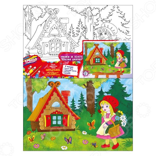 Набор для росписи по холсту Росмэн «Красная Шапочка» росмэн набор роспись по холсту маки росмэн