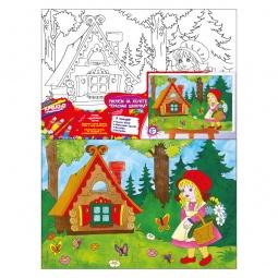 Купить Набор для росписи по холсту Росмэн «Красная Шапочка»