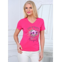фото Футболка BeGood SS15-UER-LTS-877. Цвет: розовый. Размер одежды: 50